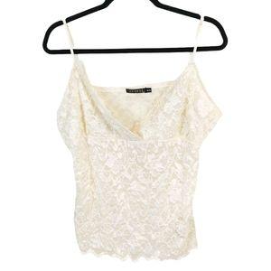 George Ivory Lace Camisole sz XL